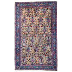 Antique Rugs, Persian Rugs, Very Rare Carpet from Tehran