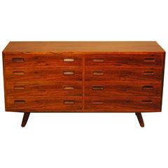 Mid-Century Modern Large Rosewood Eight-Drawer Chest