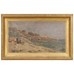 19th Century French Painting Depicting Seascape