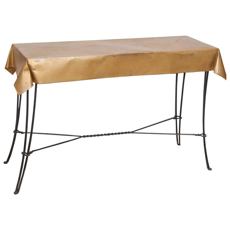 vintage metal console table vintage console table in metal at 1stdibs 6847