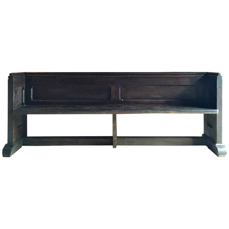 Antique Church Pew Settle Bench Victorian 19th Century At 1stdibs