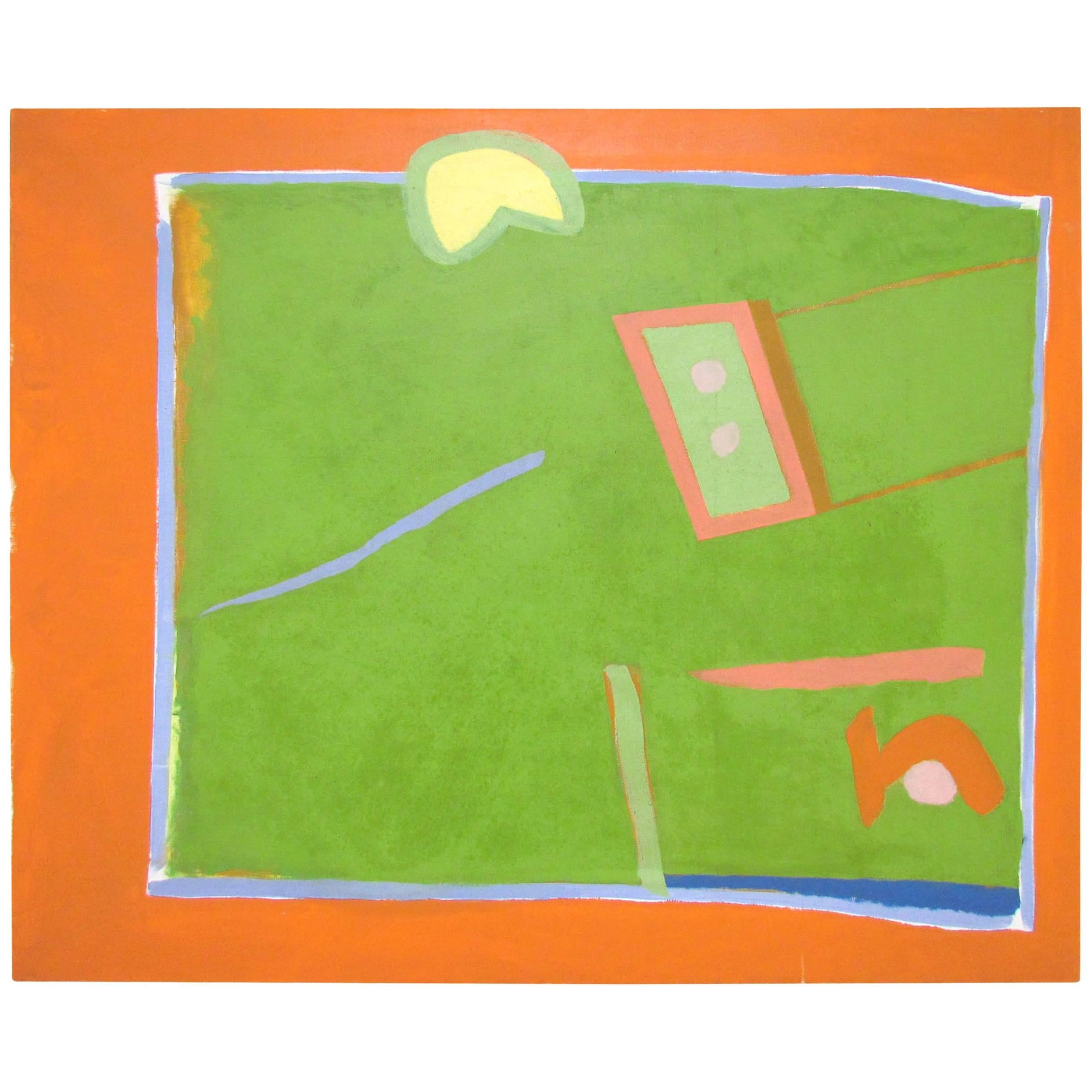 John Jagel Abstract Painting Dated 1964, Student of Joseph Albers