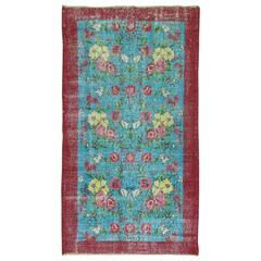 Vintage Anatolian Floral Rug