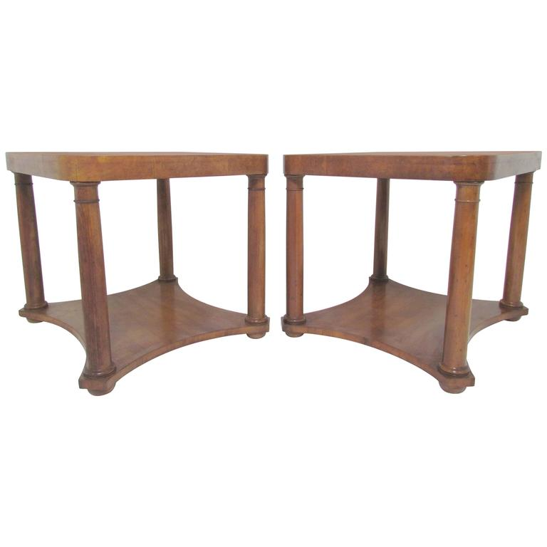 Pair Of Regency Style End Tables By Baker Furniture, Circa 1960s For Sale
