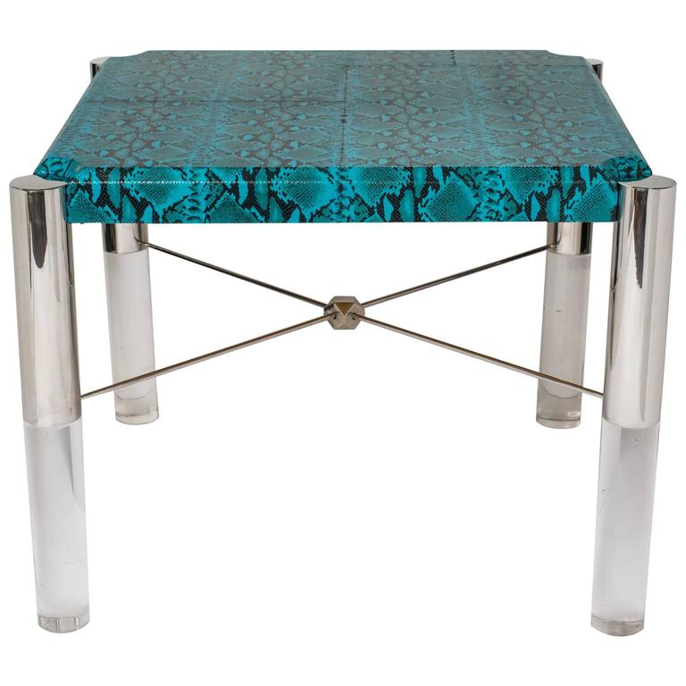 Python Print Modernist Game Table in the Manner of Karl Springer 1
