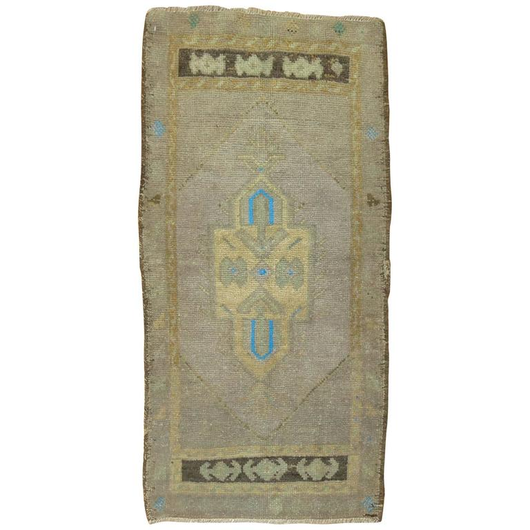 Vintage Turkish Oushak Throw Rug