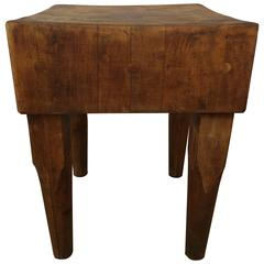 Early 20th Century Butcher Block