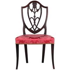Fine American Federal Period Side Chair on Splayed Legs, New York, circa 1790