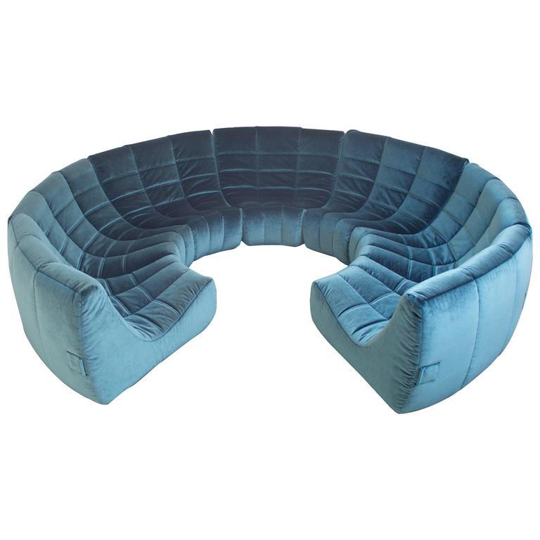 Rare and Exceptional 'Gilda' Circle Sofa by Michel Ducaroy, 1972