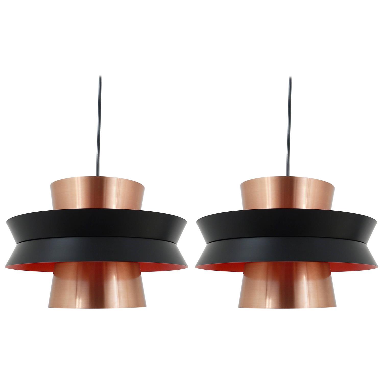 mid century pendant lighting. three midcentury copper pendant lights carl thore for granhaga sweden 1960s mid century lighting