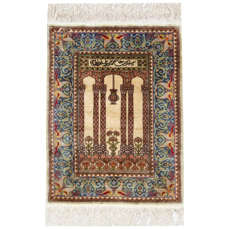 Antique Turkish Silk Rug: Antique Silk Rugs, Persian Style Rugs From Turkey For Sale
