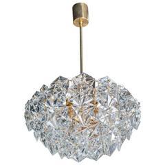 Mutli-Tier Faceted Crystal Pendant Chandelier by Kinkeldey