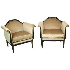 Pair of French Art Deco Lounge Chairs