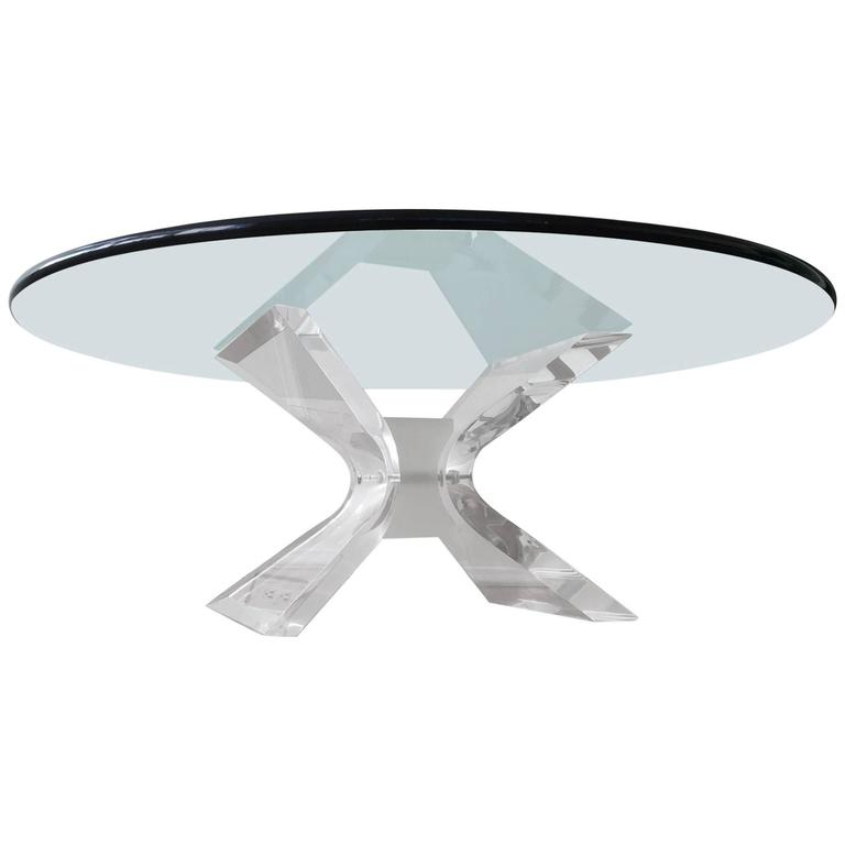 Acrylic and Glass Cocktail Table by Lion in Frost 1