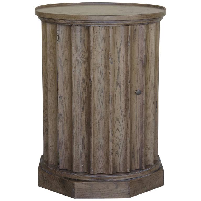 Vintage Baker Column Side Table For Sale