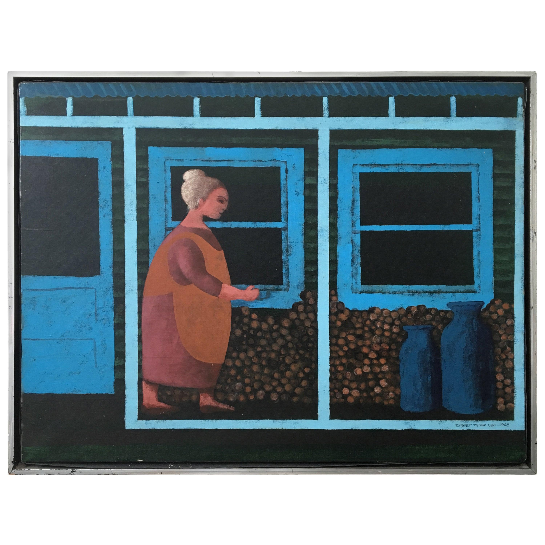 1969 Original Oil on Canvas by Robert Tyler Lee, 1910-1987