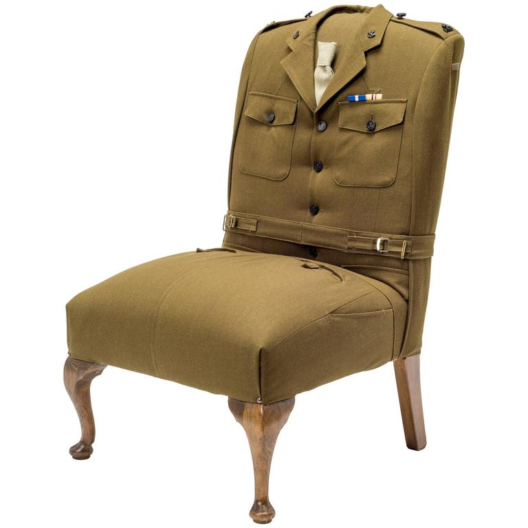 The Army Sergeant Uniform Chair At 1stdibs