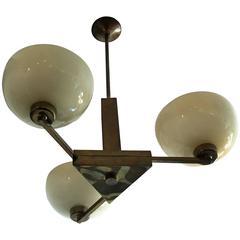1920s German Bauhaus Cubist Pendant Chandelier