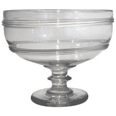 New England Blown Glass Compote, Early 19th Century