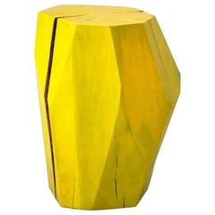 Gem Table in Faceted Solid Hardwood