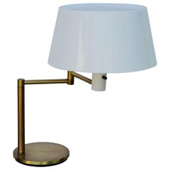Impeccable Extendable Arm Lumilux Study Lamp by Gerald Thurston for Lightolier