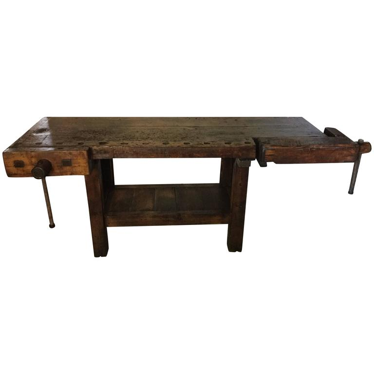 Brooklyn Piano Factory Woodworkers Bench Maple Work Bench