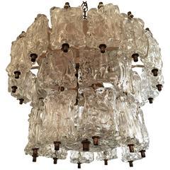 1950s Murano Glass Pendant Chandelier Ceiling Light