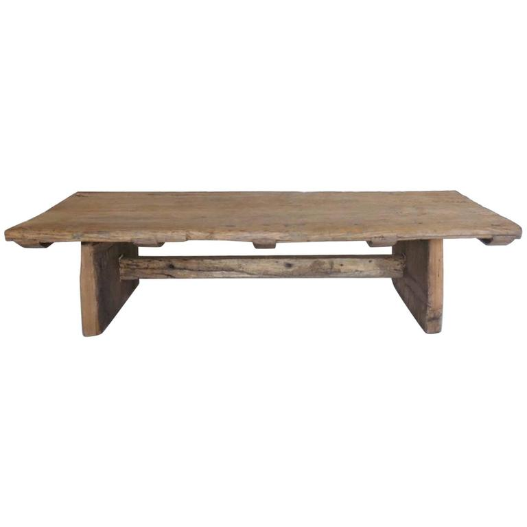 Japanese elmwood coffee table at 1stdibs One of a kind coffee tables