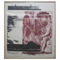 "Robert Rauschenberg Untitled ""Harp"" Lithograph Limited Edition"
