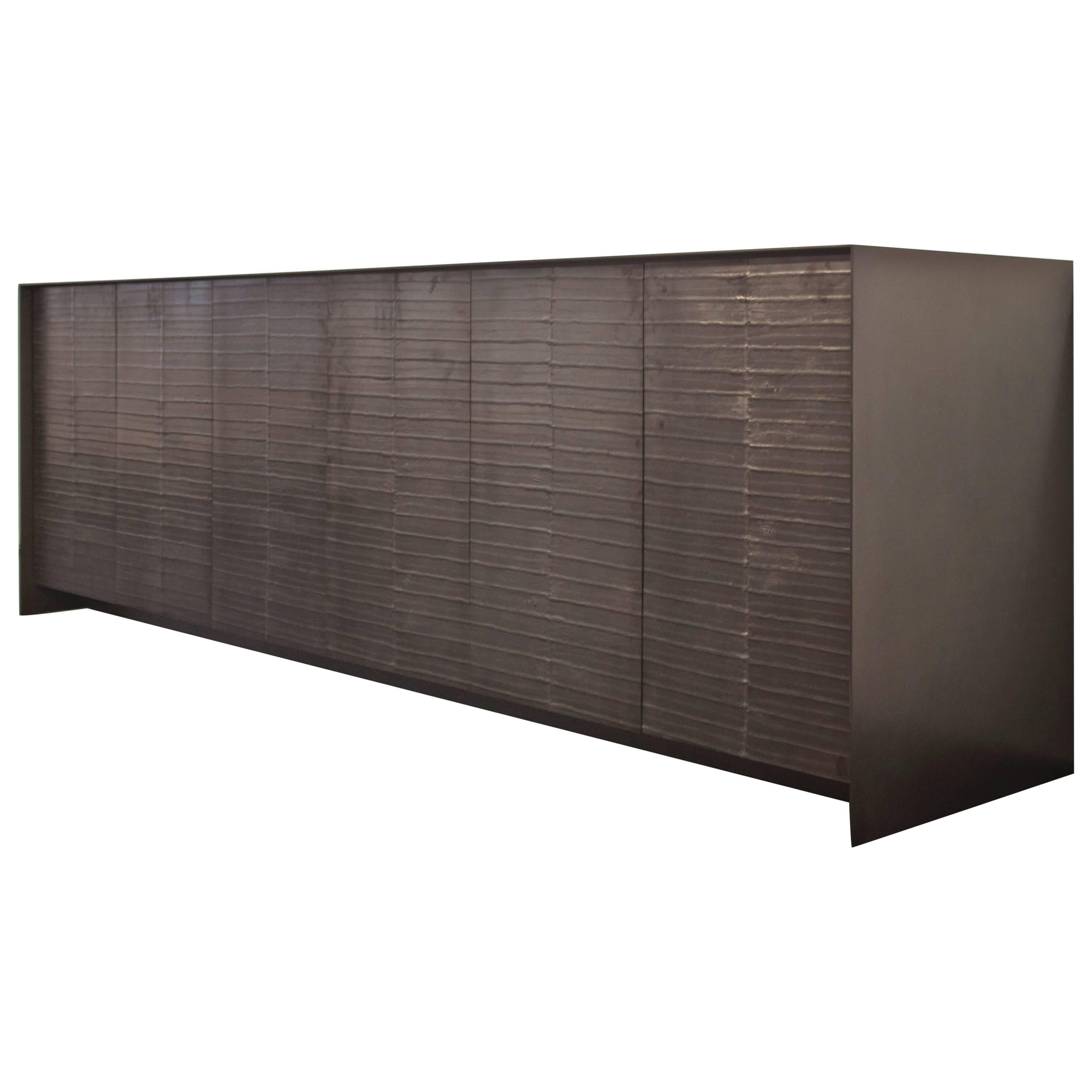 Sina Eelskin Graphite Credenza I Customizable For Sale At 1Stdibs