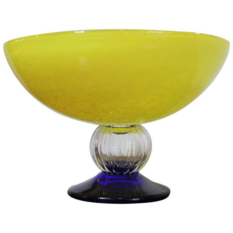 Yellow Bowl by Gunnel Sahlin for Kosta Boda