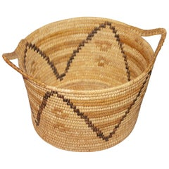Unusual Double Handled Papago Indian Basket