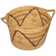 Unusual Double Handled Papago Indian Basket