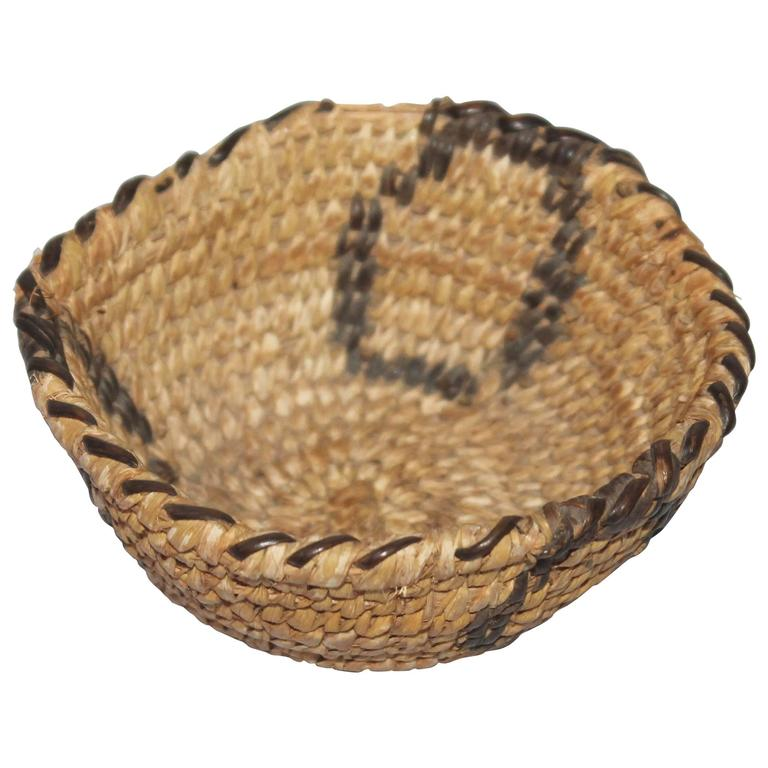 Amazing Miniature Papago Indian Basket
