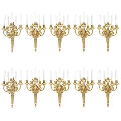 Set of Ten Louis XVI Sconces