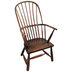 Early 19th Century English High Back Windsor Chair