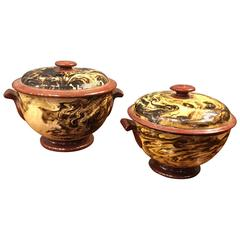 Pair of 19th Century French Pottery Tureens