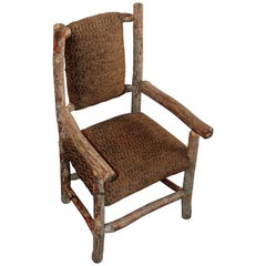 Mid-20th Century Child's Old Hickory Upholstered Chair