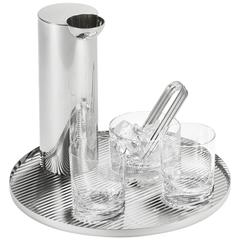 Tomás Alonso Modern Sterling Silver and Glass Bar Set