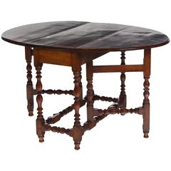 18th Century Maple American Gateleg Table Great Patina