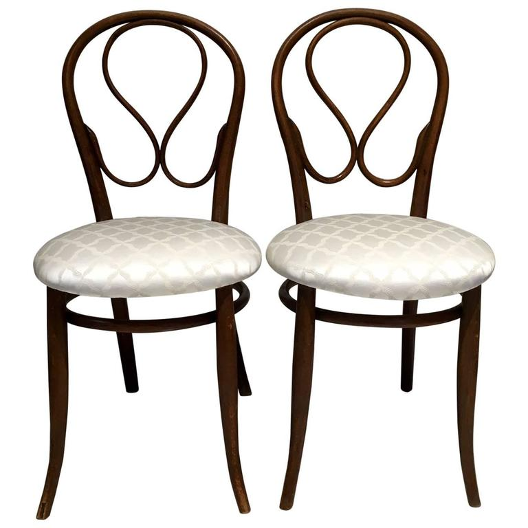 Pair of August Thonet Bentwood Chairs by Thonet Bros