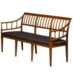 Early 19th Century Elegant Danish Empire Bench Made of Solid Mahogany