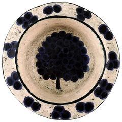 Unique Birger Kaipiainen Finnish Ceramist Bowl, Unique Work from 1950s