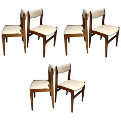 Set of Six Mid-Century Danish Rosewood Veneered Dining Chairs
