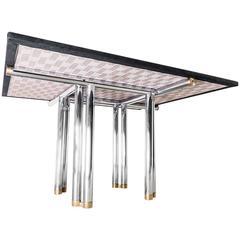 """Table """"Bisanzio"""" des. Carlo Scarpa and Hiroyuki Toyoda for Simon 1973"""