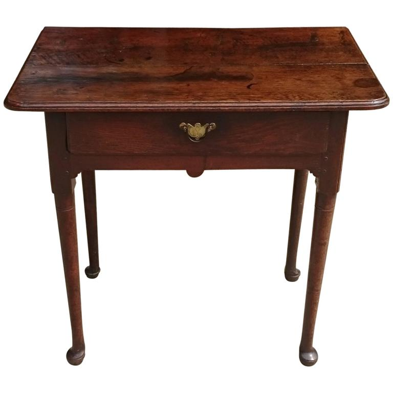 Early 18th Century Oak Side Table Great Patination