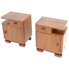 't Woonhuys Art Deco Bed Side Tables