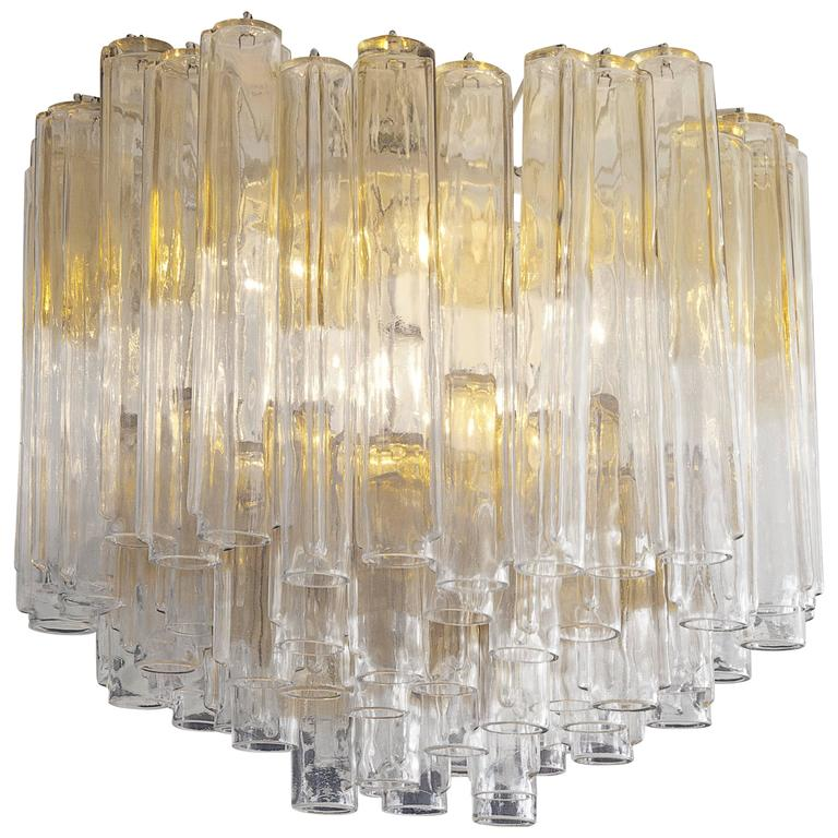 1960s Venini Glass Chandelier 1