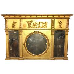 Antique Regency, 1815 Gilt Mantle Mirror English Mirrors