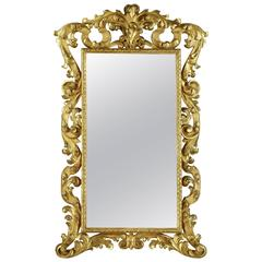 Large Carved and Gilded Florentine Mirror